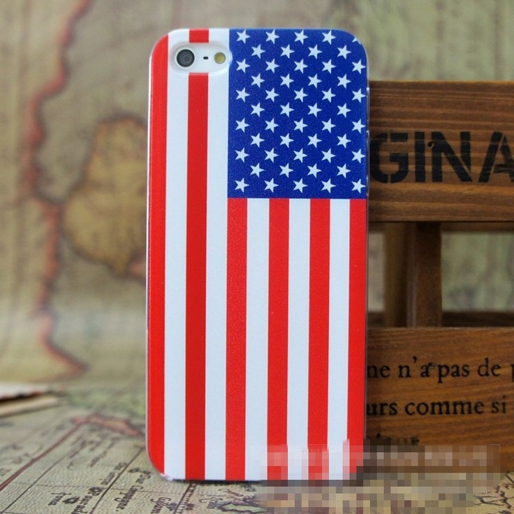 Iphone5 USA National Flag Case Cover $10.00