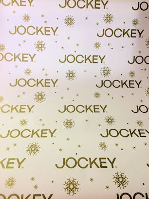 Jockey will be decorating their gifts / stands this year with this very festive gift-wrap in selected stores only :)