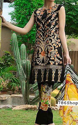 Black Lawn Suit   Buy Zara Khan by Zohan Pakistani Dresses and Clothing online in USA, UK