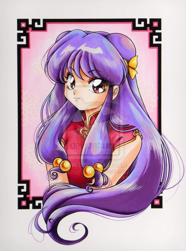 Shampoo from Ranma 1/2 .Copic marker. by escafan.deviantart.com on @deviantART