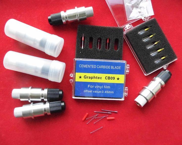 US Graphtec CB09 Blade Holder & blades for Vinyl Plotter Cutter 30°45°60° blades | eBay