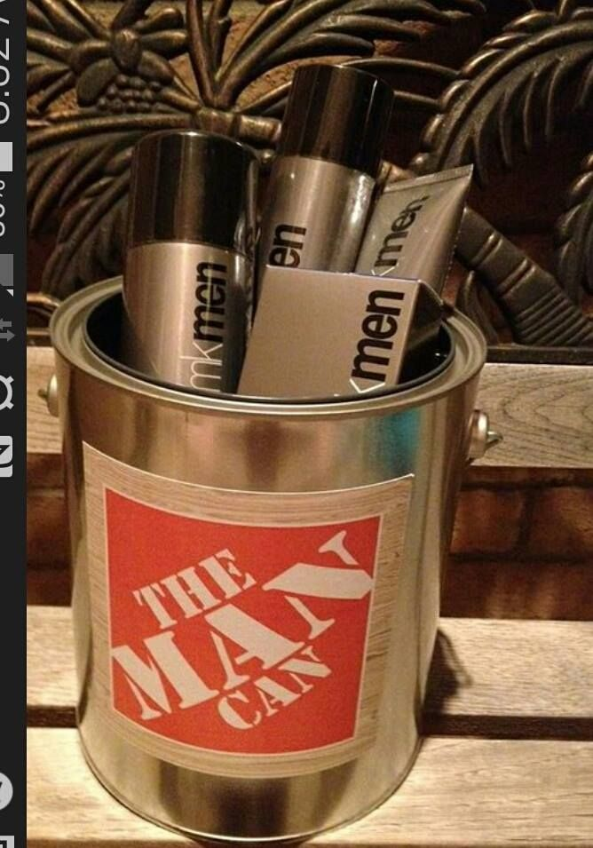 The MAN CAN!  Prices vary depending on contents.  Can include men's skin care or men's cologne and shower wash.