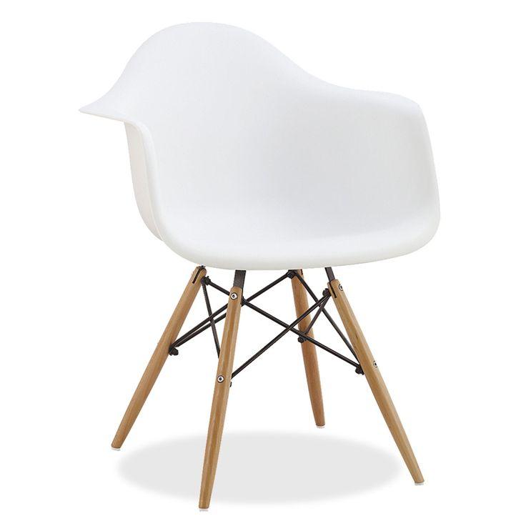 Ispirata alla sedia DSW di Charles & Ray Eames.                 La struttura delle gambe è basata sulla Torre Eiffel.                 Altezza dal pavimento ai braccioli: 66 cm.          Disponibile in diversi colori.       La sedia DIMERO uno dei modelli più popolari del design d'avanguardia dell'ultimo secolo. Stile, eleganza e comodità si fondono per dare un tocco distintivo alla tua casa o al tuo ufficio. Lo schienale e i braccioli in un solo pezzo in polipropileno si ada...