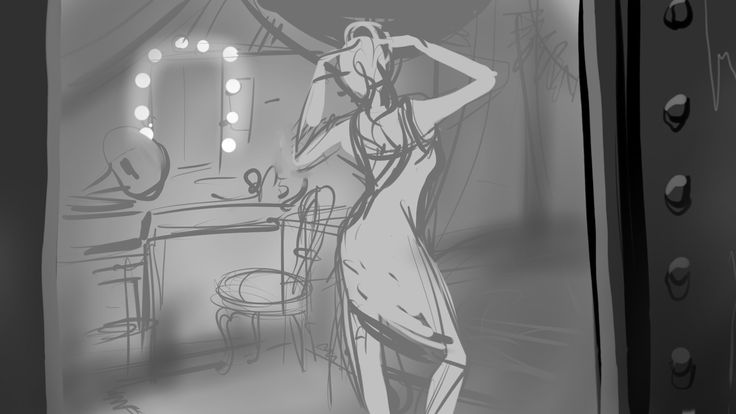 Original rough concept art work for Sonya in The Fitzroy.