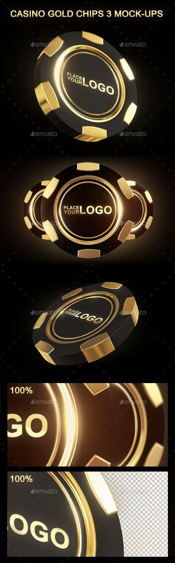Casino Gold Chip Mockup