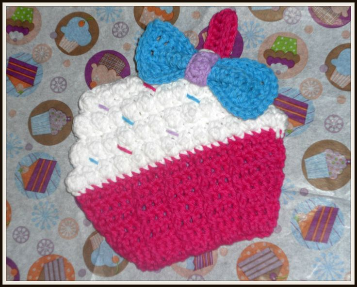 Cupcake Potholders(Pattern Added and New Pictures) - CROCHET