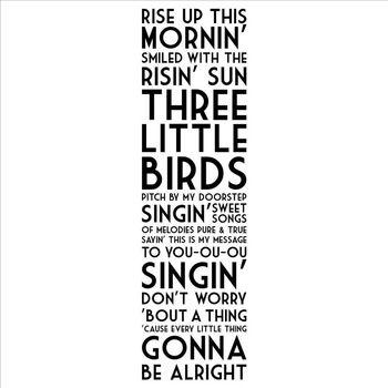 opstaan vanmorgen' glimlachte met de Risin' zon drie kleine vogels muur gezegden huis decor sticker stickers citaten Bob Marley