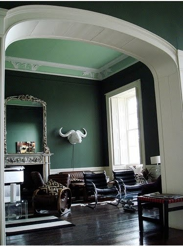 Dark Green Bedroom Ideas: Loving The Ceiling. Detail And Color Is Gorgeous
