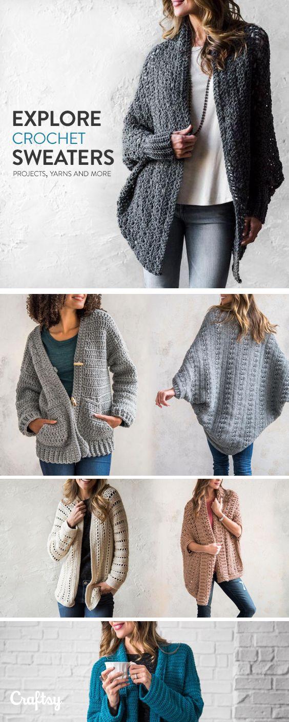 6b146cf4132165 Explore crochet sweater projects