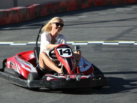 """I peed in my pants!"" --Gwyneth Paltrow after she and Ellen raced go-karts"