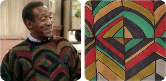 The Cosby Sweater Project (Apartment Therapy)    Art based on Bill Cosby's sweaters on the show!  Too funny.
