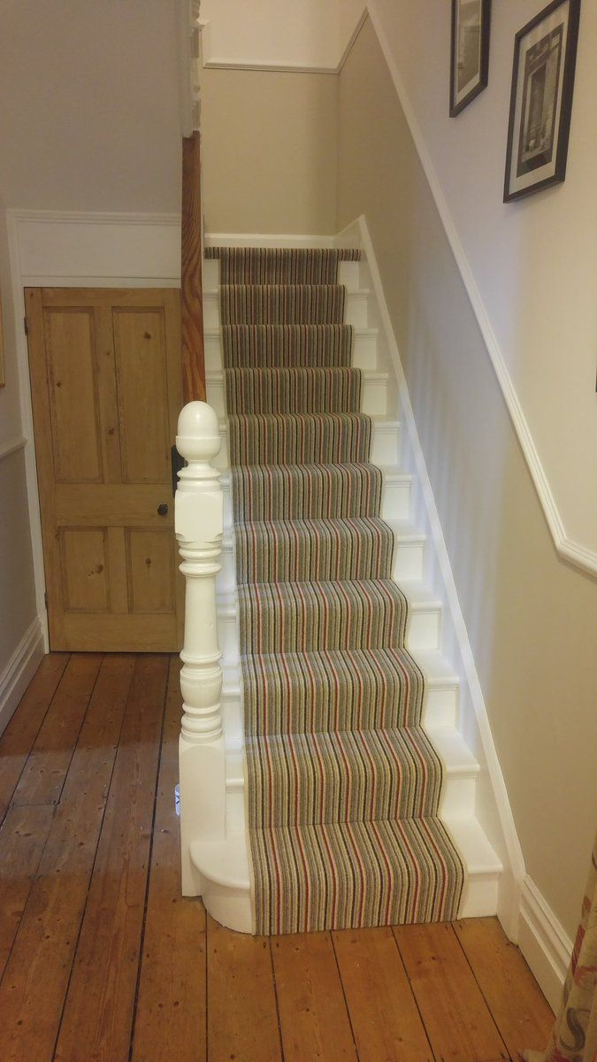 A Kingsmead carpet, fitted on the stairs, installed by Bow Flooring.