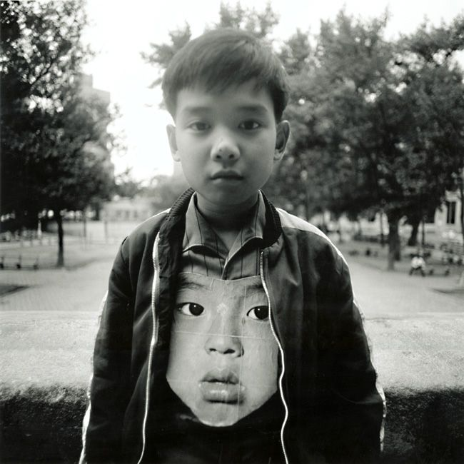 Arthur Tress :: Boy with Chinese Mask, NYC, 1972