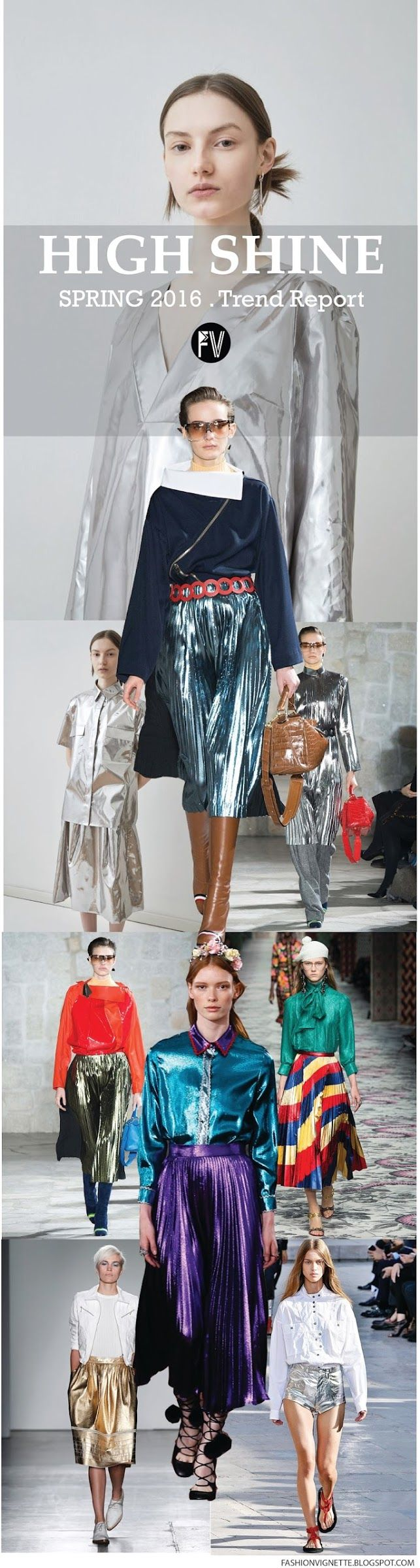 [ TREND REPORT ] HIGH SHINE - SPRING 2016. For more follow www.pinterest.com/ninayay and stay positively #inspired