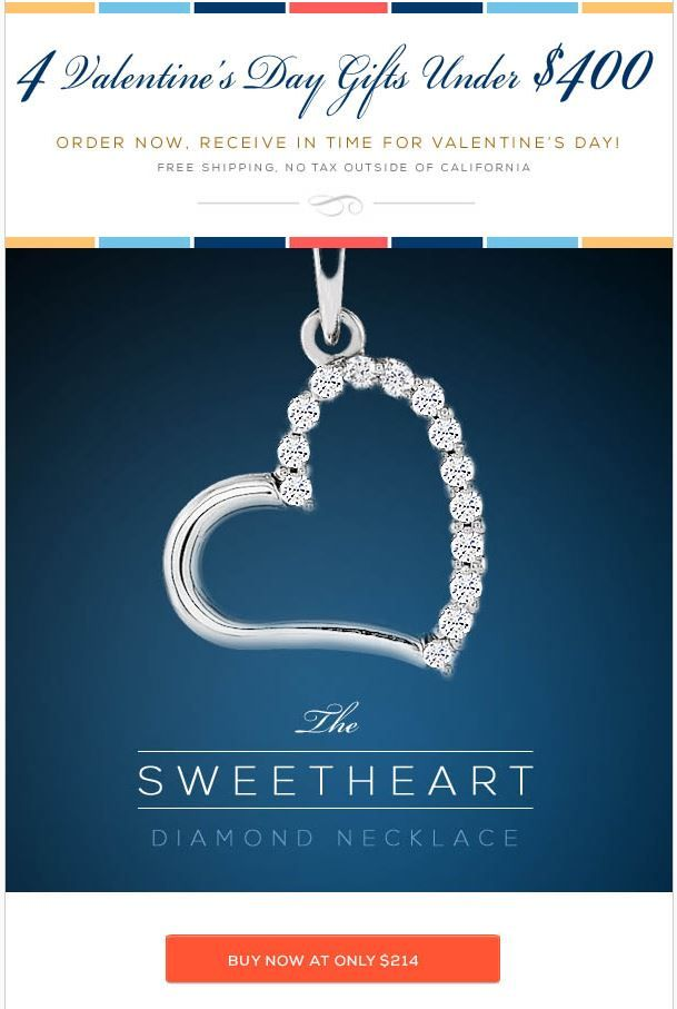 4 valentines day gifts under 400 by hadardiamondscom adorn her with pretty diamond jewelry she will love this february 14th from 214 400 - Valentine Day Jewelry Sales