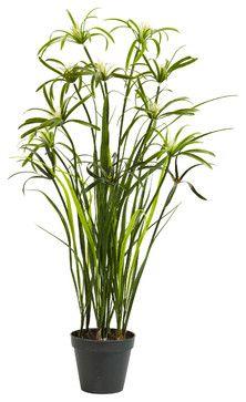 3' Papyrus Silk Plant mediterranean-artificial-flowers