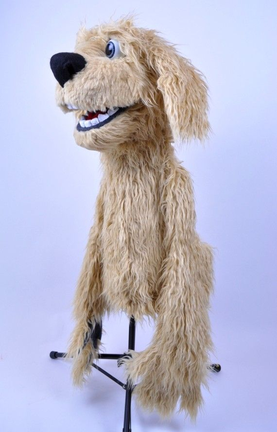 Blinking snarling dog puppet, professional movie puppet ...