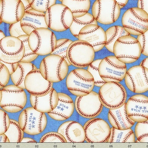 Crafters Vision Rjr Fabrics Sew Sporty Baseballs