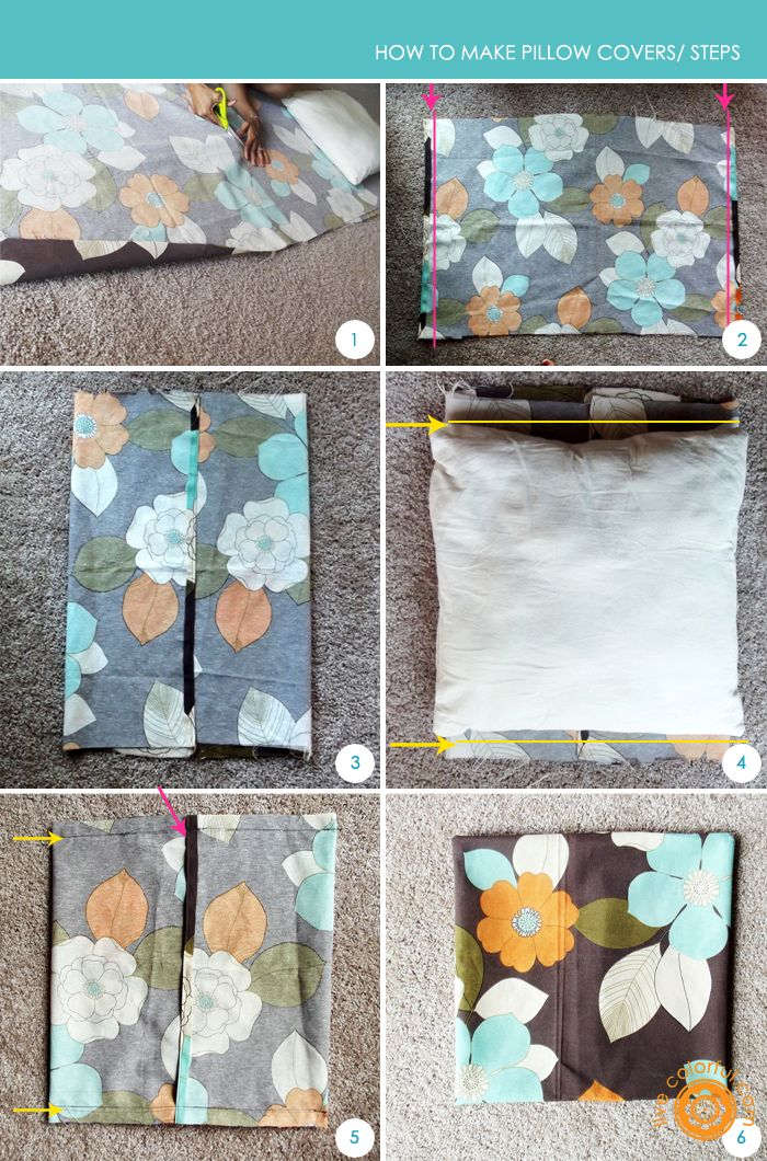 The easiest looking tutorial I've found thus far for making envelope-style pillow covers.