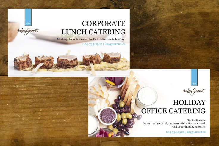 Advertising campaign for a catering company to showcase its ...