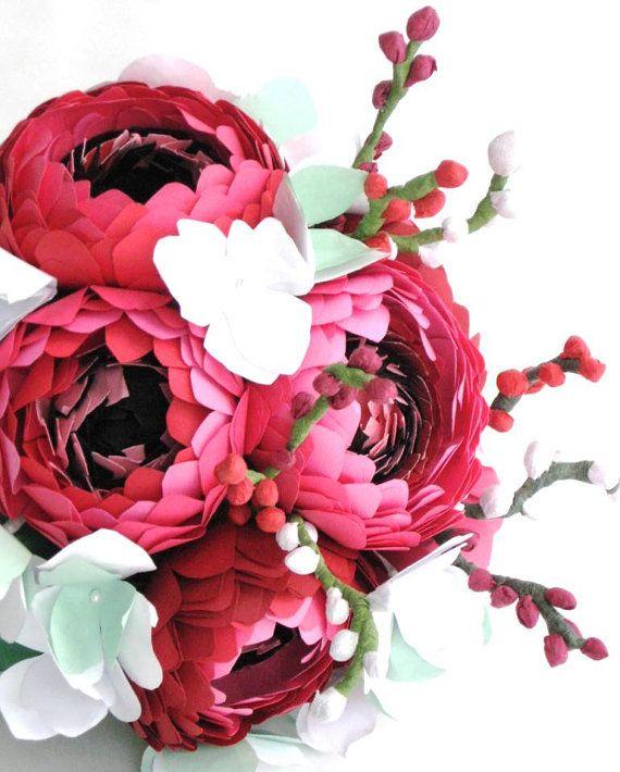 paper flower wedding bouquet   paper bouquet Not Your Mothers Bridal Bouquet! Bridal Shows