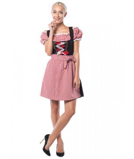 0e61fd9b6eef9c Dirndls zijn de traditionele klederdracht voor vrouwen tijdens het  Oktoberfest. Zo ook onze korte variant