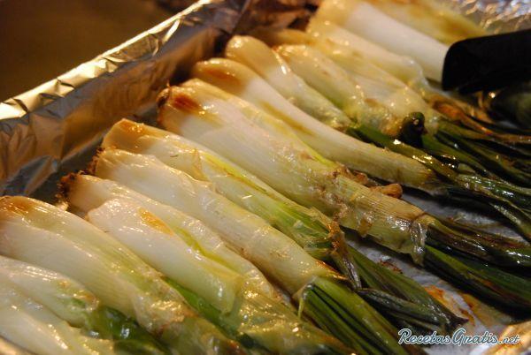 Calçots al horno #Vegetariano #Vegano