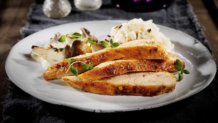 Marinert kylling med fløtesaus