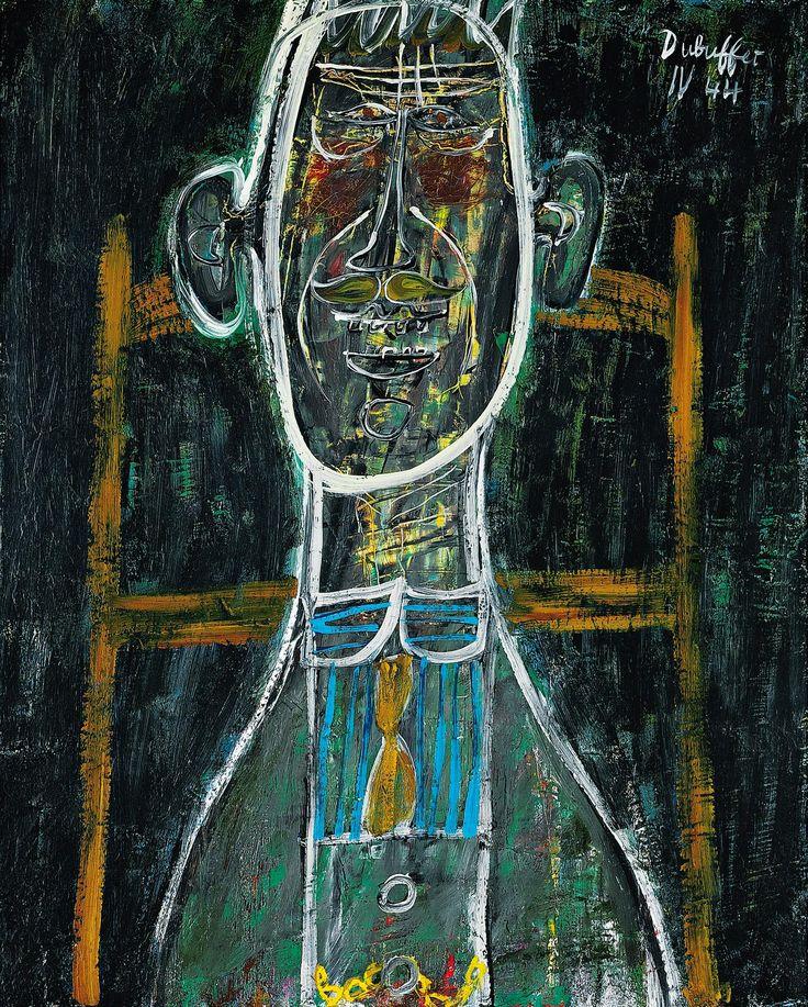 Jean Dubuffet - L'homme au Plastron Bleu - 1944