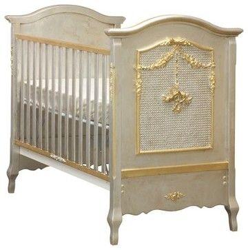 AFK Cherubini Crib, Silver & Gold Gilding eclectic cribs