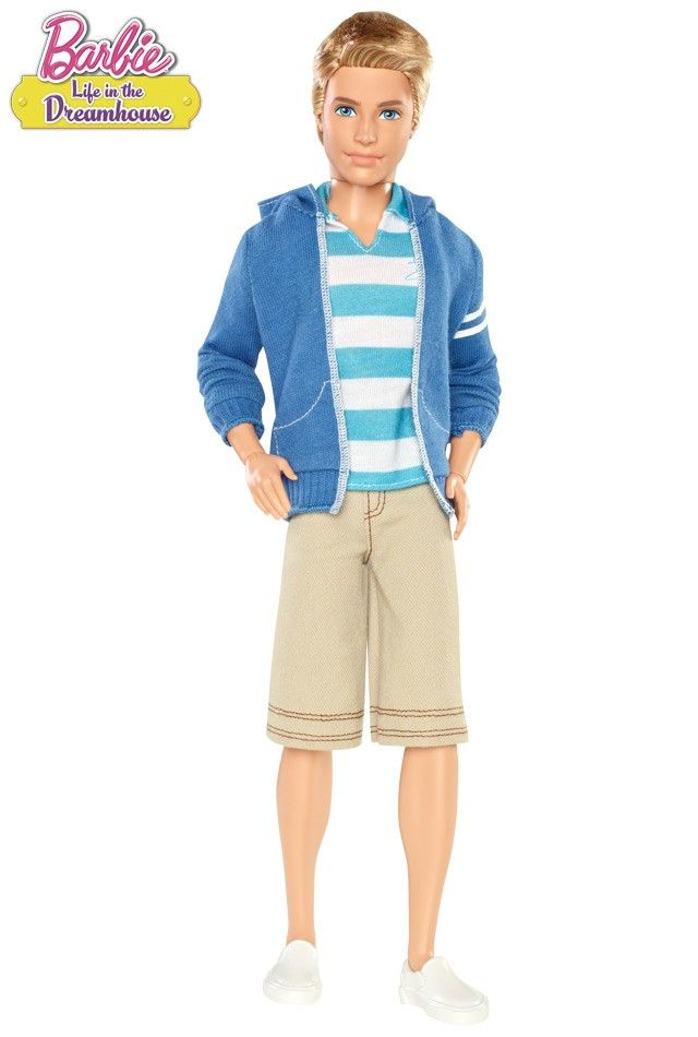 Ken couldn't be more dashing if he tried! His California ensemble is inspired by the hit Barbie web series. Barbie™ Life in the Dreamhouse Ken® Doll.