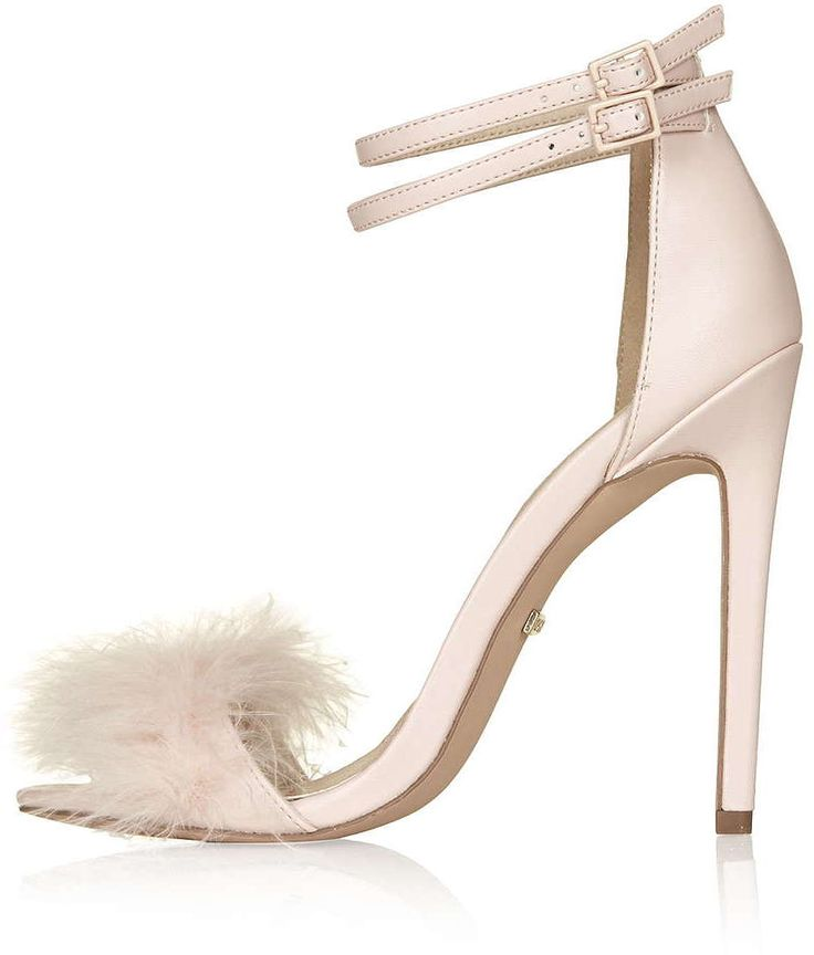 Womens blush reese feather sandals from Topshop - £50 at ClothingByColour.com