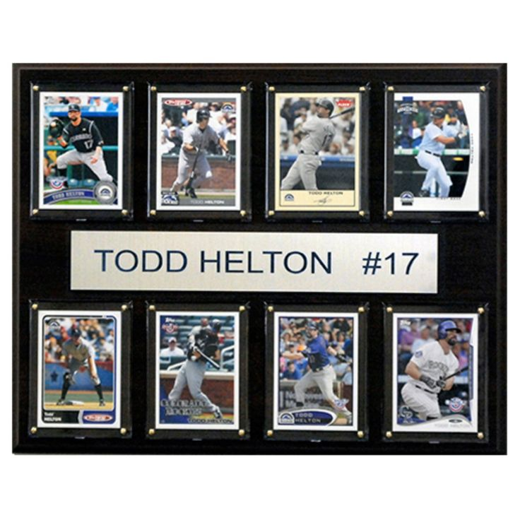 C and I Collectables MLB 15W x 12H in. Todd Helton Colorado Rockies 8 Card Plaque - 1215HELTON8C
