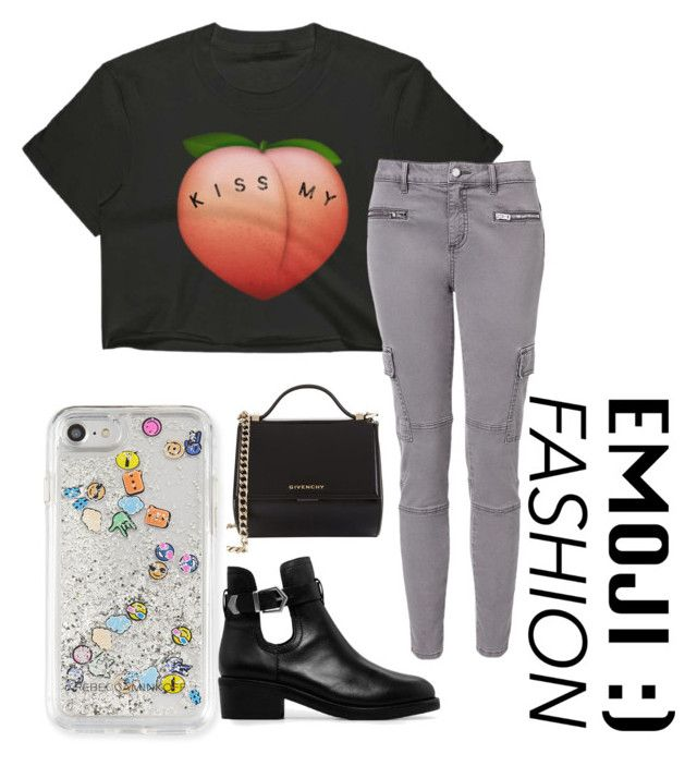 """""""emoji"""" by roselie1405x on Polyvore featuring Givenchy, Witchery, Rebecca Minkoff and MANGO"""