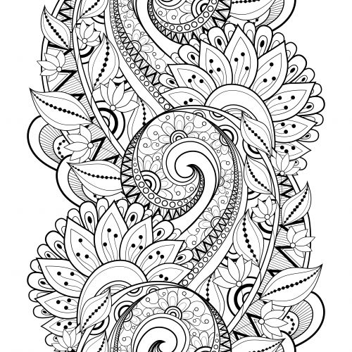 29 best images about advanced flower coloring pages on pinterest