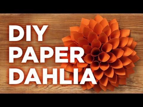 Giant Paper Dahlia: Pinterest Inspired - HGTV - Weekday Crafternoon - YouTube