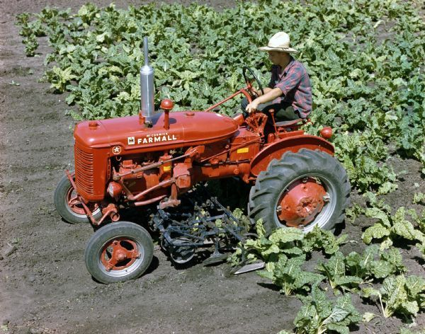 Ih Cultivator Parts : Farmall super a tractor with cultivator photograph