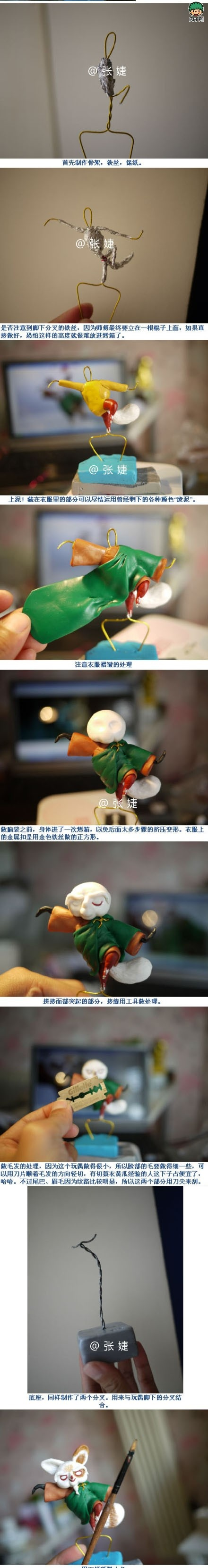 how to make a clay figurine, this one a Kung Fu Panda character