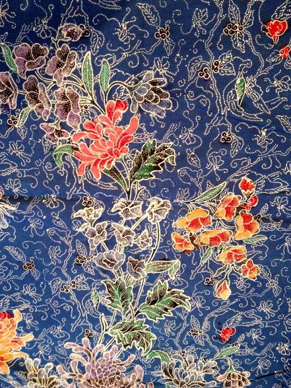 Handmade Indonesian Batik Sarong Over by HotelSilver - framed for wall piece
