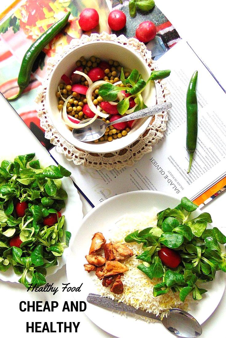 Eating healthy on a cheap budget  CHEAP AND HEALTHY  Jak jeść zdrowo i nie rujnować się?   Jak najwięcej rzeczy przygotowywać samemu. Danie wcale nie musi być skomplikowane, by było zdrowe i smaczne.