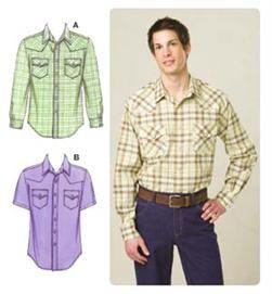 Kwik Sew Men's Western-Style Shirts Pattern