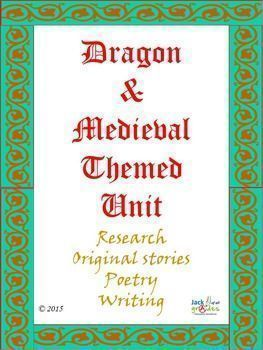 $Dragon & Medieval Themed Language and Research Unit. This is a Language Arts and research unit of work written for students around the themes of Dragons and Medieval times. The unit has numerous activities that will appeal to various age groups, as individual tasks, group activities, extension, as a book of work to be completed etc.  This unit Dragon & Medieval Themed Unit is in its entirety of 74 pages of work.  #Education #Language #Research -