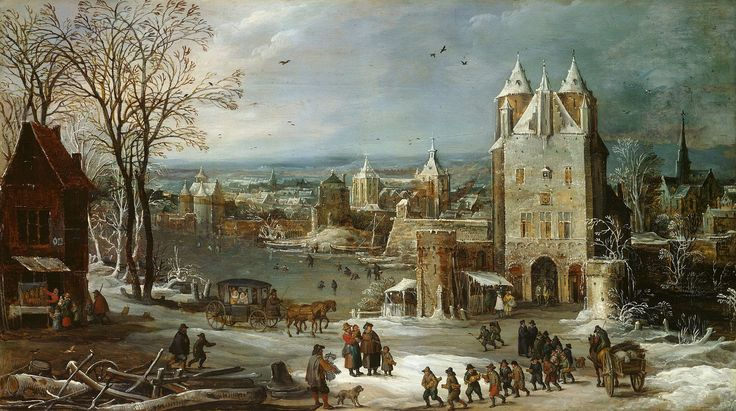 Joos de Momper (II), Jan Brueghel the Elder Der Winter (c. 1615) Herzog Anton Ulrich-Museum