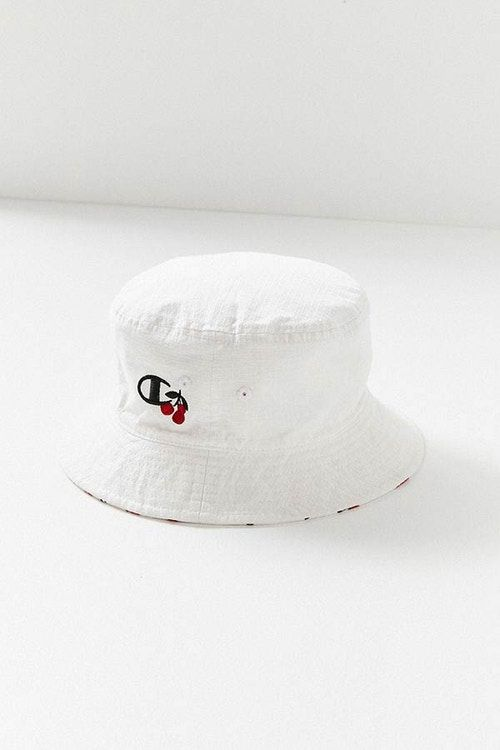 de5e0922fbc HVN Champion Cherry Reversible Bucket Hat White Red