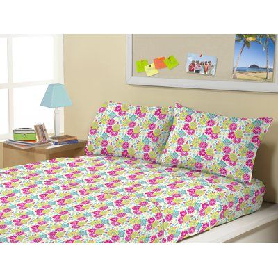 Morgan Home 3 Piece Mattie Flowers 1500 Thread Count Kids Sheet Sets