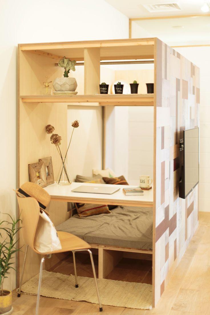 「Stacks B - 壁にもなる書斎小屋」は、SuMiKa(スミカ)が提案する新しいリノベーション方式「家の中の小屋」シリーズの商品です。いままでにない、リノベよりも気軽に間取りを解決できる新しい暮らしのカスタマイズツールです。修繕や修理といったイメージのリフォームではなく、 追加することによる「暮らし」の変化を楽しめるリノベーションの方式をSuMiKaは提案します。