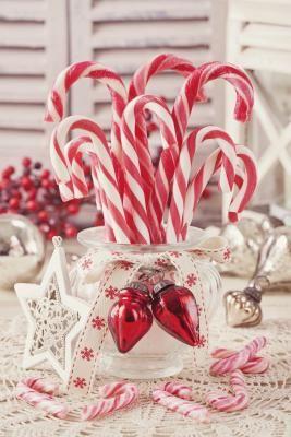 Ideas para centros de mesa navide os hechos en casa - Adornos de mesa navidenos ...