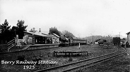 Berry Railway Station in New South Wales in 1925.A♥W