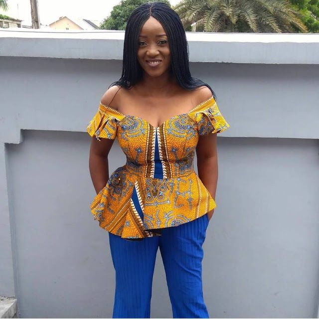 Creative Ankara blouse and jeans styles - Od9jastyles - Latest Ankara and Aso ebi styles