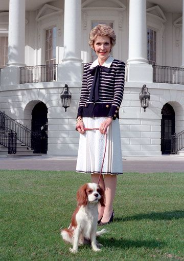 Nancy Reagan, and First Dog, Rex @Anna Martin   did you know the first dog was a King Charles????
